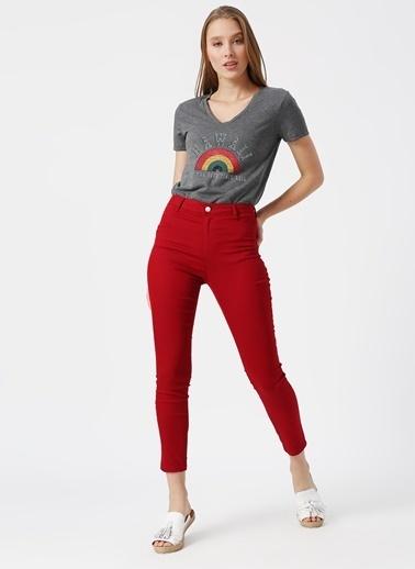 Koton Koton Kırmızı Pantolon Kırmızı